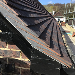 roof tiles and guttering